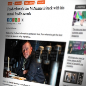Listed under 'Gourmand's Choice' in Joe McNamee's annual foodie awards