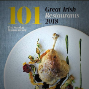 "Listed in ""101 Great Irish restaurants 2018"" - Sunday Business Post"