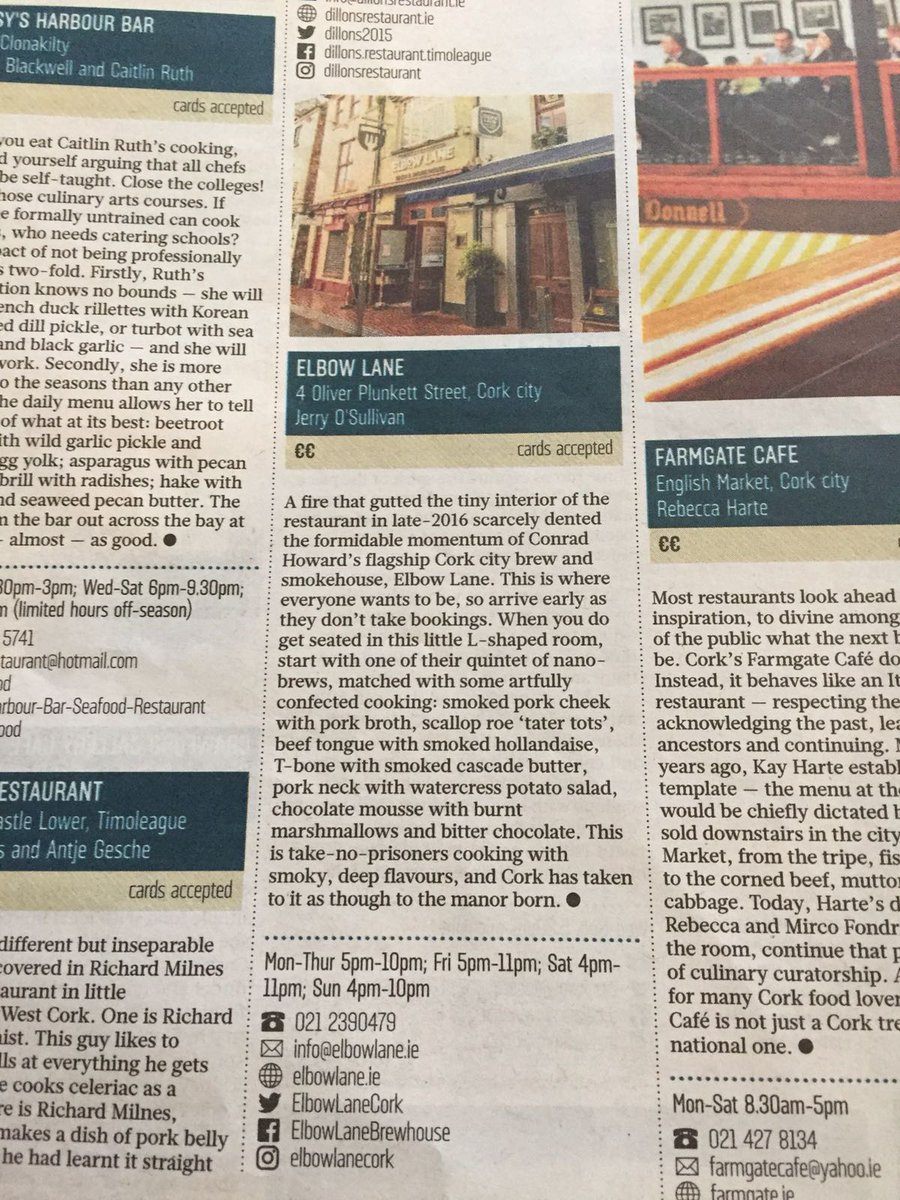 Sunday Times Top 100 - Elbow Lane Cork
